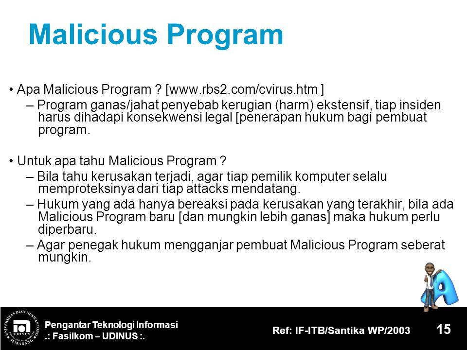 Malicious Program • Apa Malicious Program [www.rbs2.com/cvirus.htm ]
